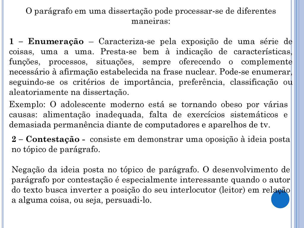 Desenvolvimento de parágrafo - ppt carregar