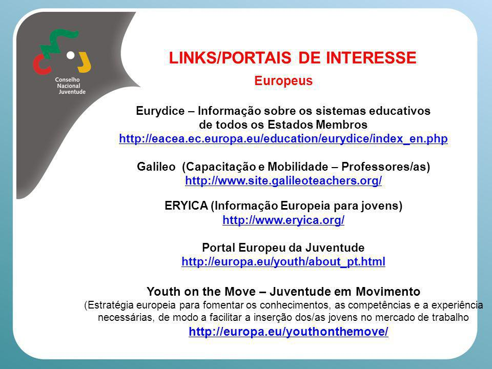 LINKS/PORTAIS DE INTERESSE Europeus