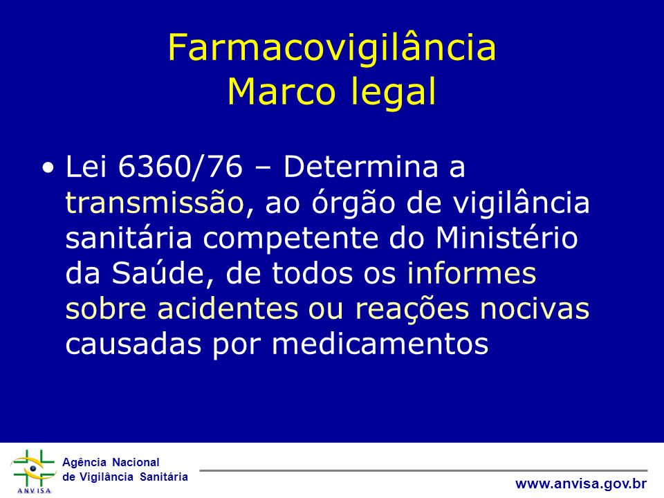 Farmacovigilância Marco legal