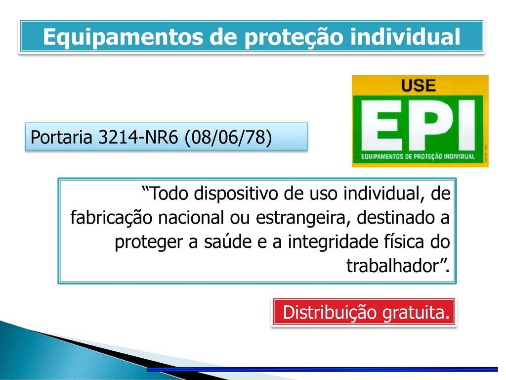 BIOSSEGURANÇA Equipamentos de proteção individual (EPIs) - ppt carregar 79f43344fe