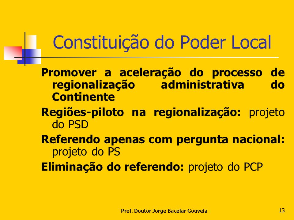Constituição do Poder Local