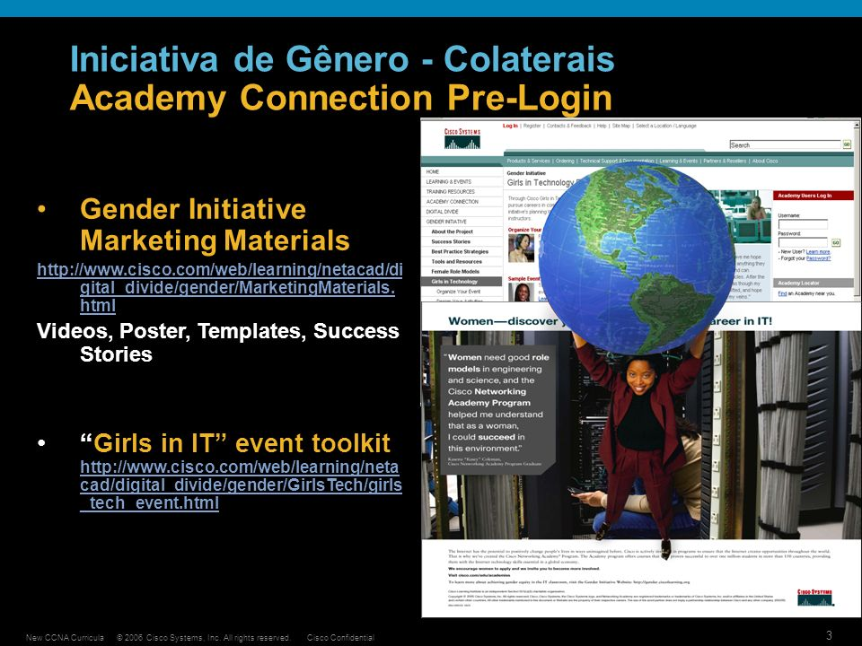 Iniciativa de Gênero - Colaterais Academy Connection Pre-Login