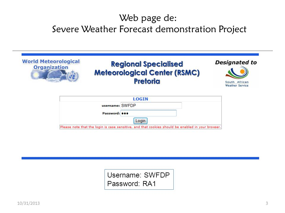 Severe Weather Forecast demonstration Project