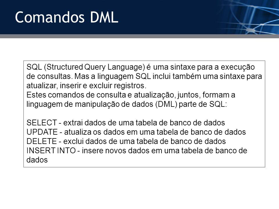 Aula – Comandos SQL no MYSQL Prof  Francisco Olivar Junior