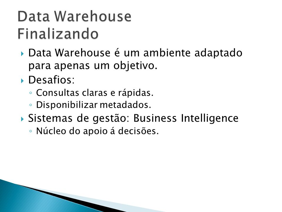 Data Warehouse Finalizando