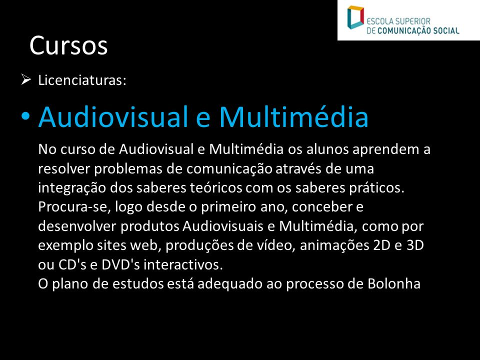 Audiovisual e Multimédia