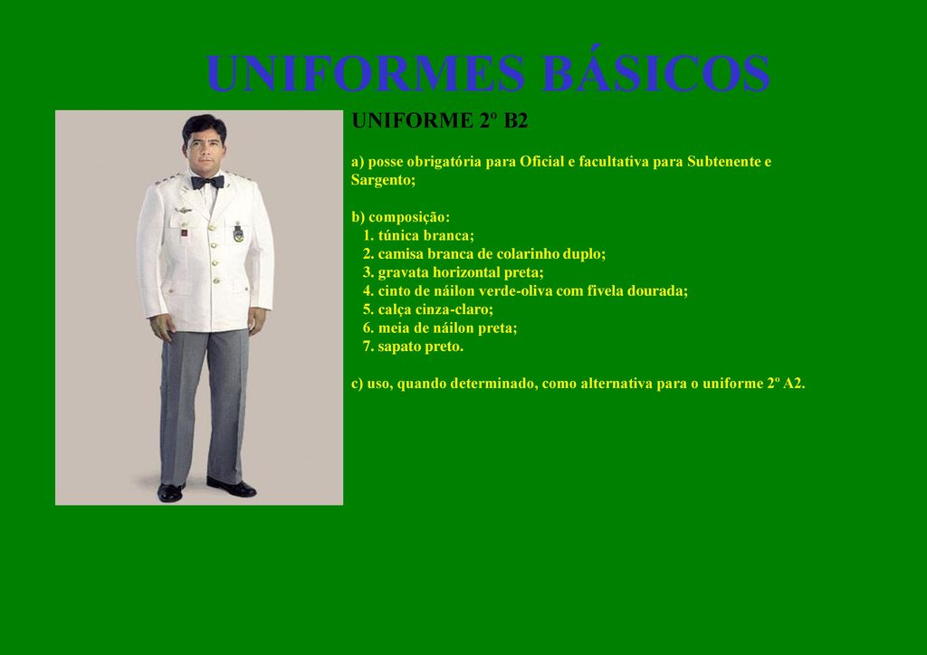199b4adf6 Uniformes e Distintivos do Exército - ppt carregar
