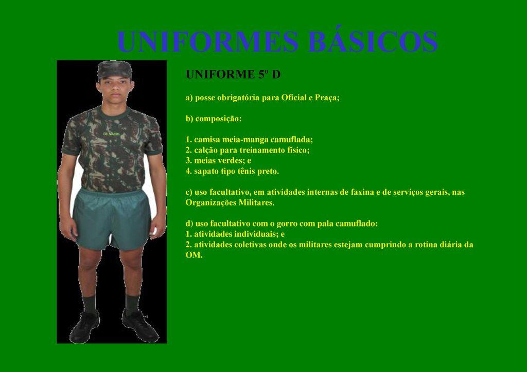 1b53943422c Uniformes e Distintivos do Exército - ppt carregar