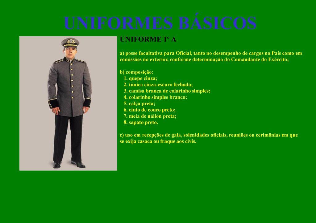 1b38ce0e040 Uniformes e Distintivos do Exército - ppt carregar