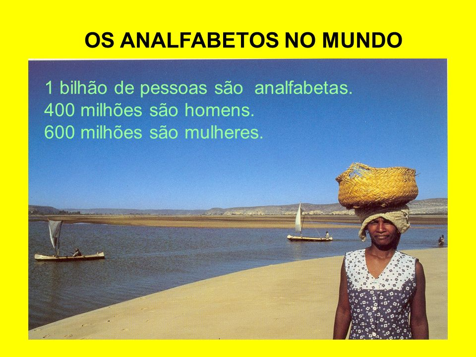 OS ANALFABETOS NO MUNDO
