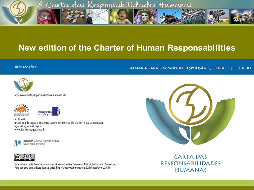 New edition of the Charter of Human Responsabilities