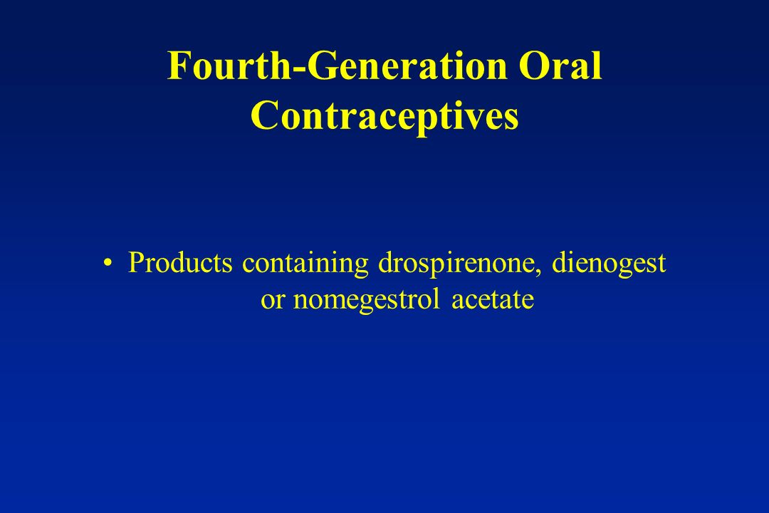 Fourth-Generation Oral Contraceptives