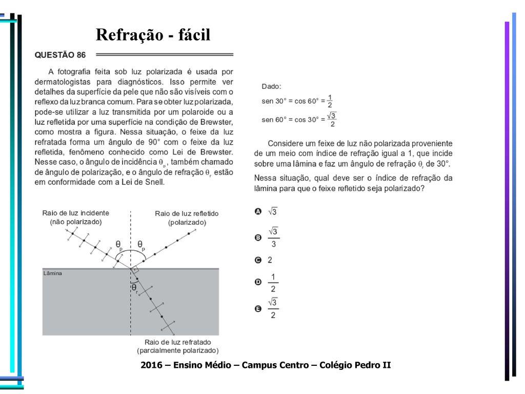 Resolução Questões Enem ( ) Física - ppt carregar
