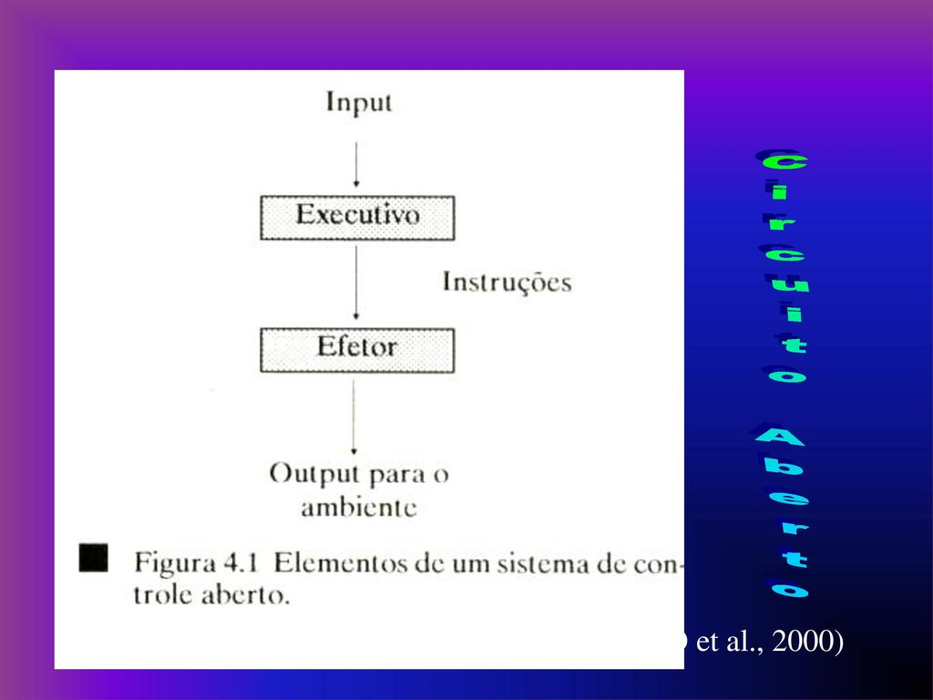 Circuito Aberto : Teoria do circuito aberto ou teoria dos esquemas de schmidt 1975