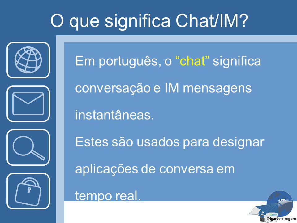 O que significa Chat/IM