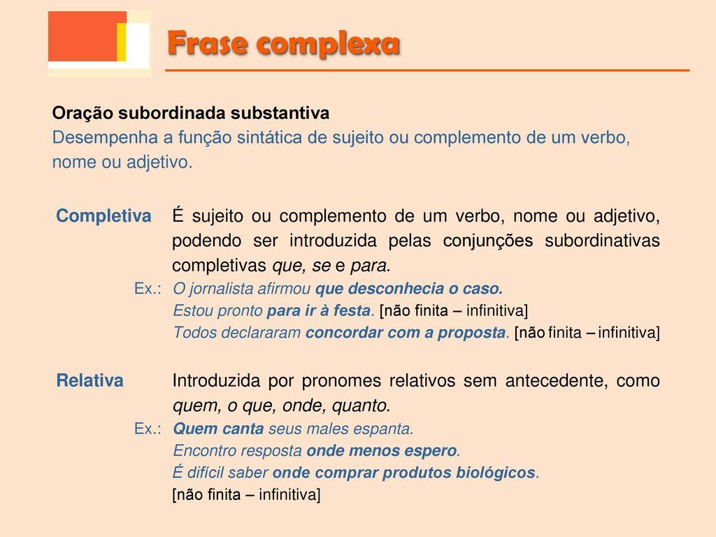 Gramática Frase Complexa Outras Expressões 10º Ano Ppt Carregar