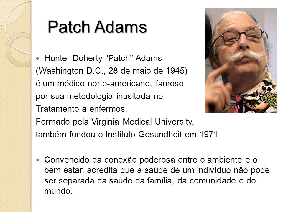 Patch Adams Hunter Doherty Patch Adams