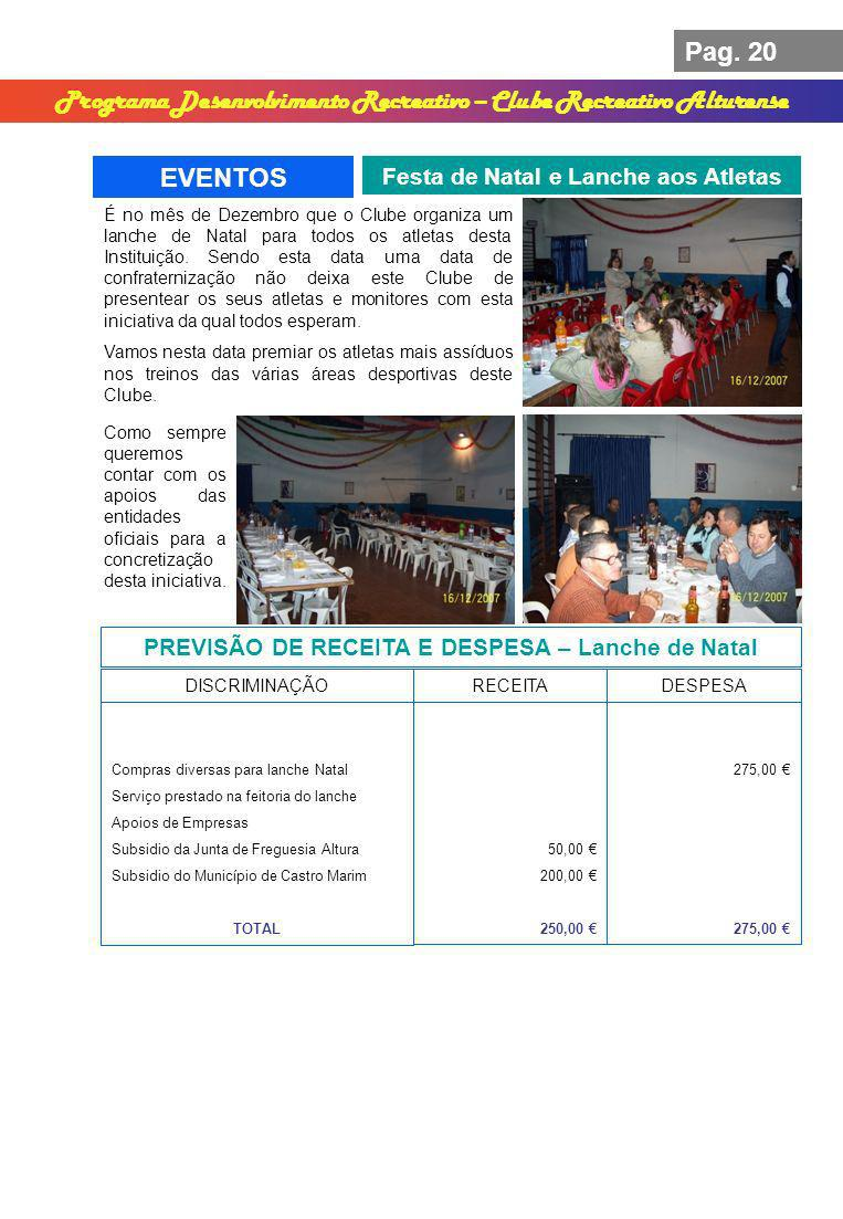 Programa Desenvolvimento Recreativo – Clube Recreativo Alturense
