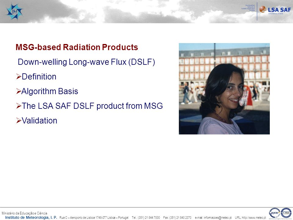 MSG-based Radiation Products