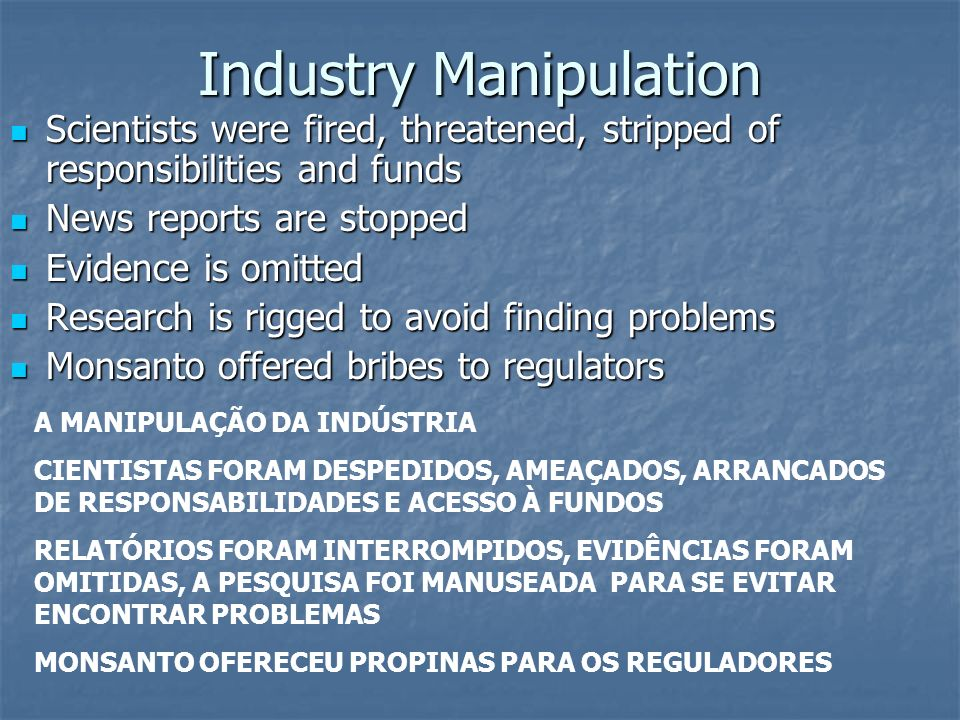 Industry Manipulation