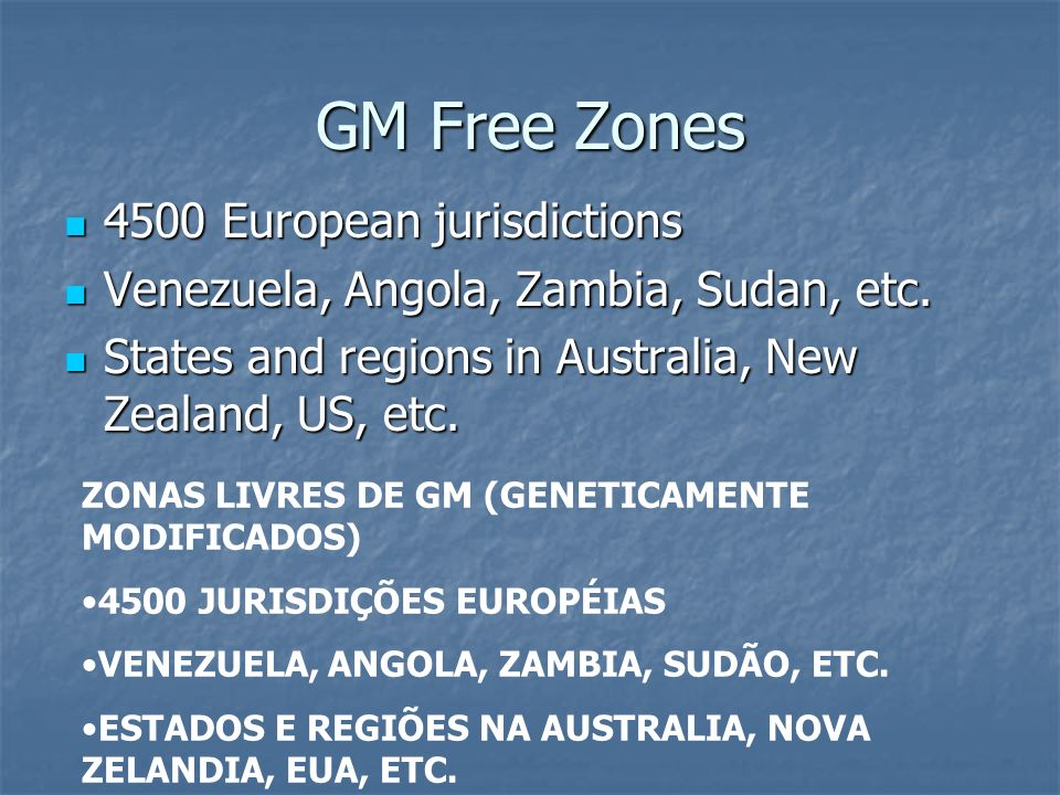 GM Free Zones 4500 European jurisdictions
