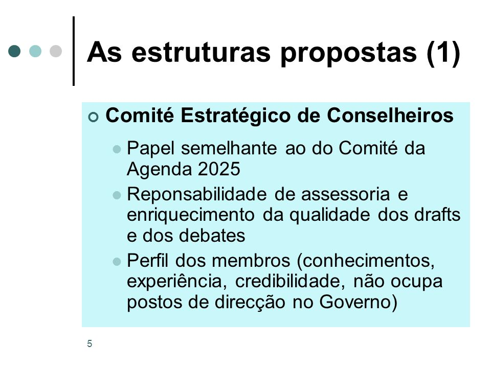 As estruturas propostas (1)