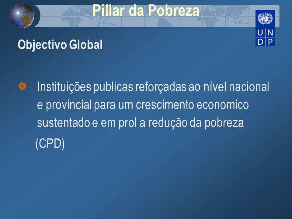 Pillar da Pobreza Objectivo Global