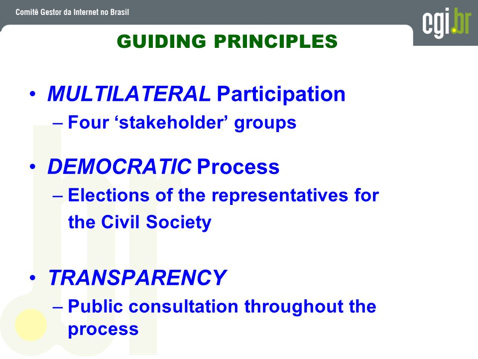 MULTILATERAL Participation