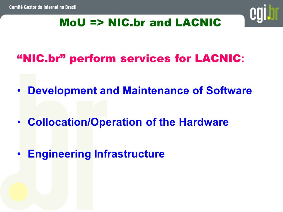MoU => NIC.br and LACNIC