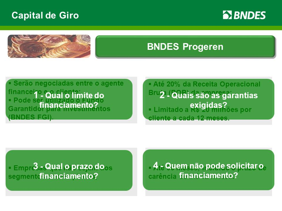 1 - Qual o limite do financiamento