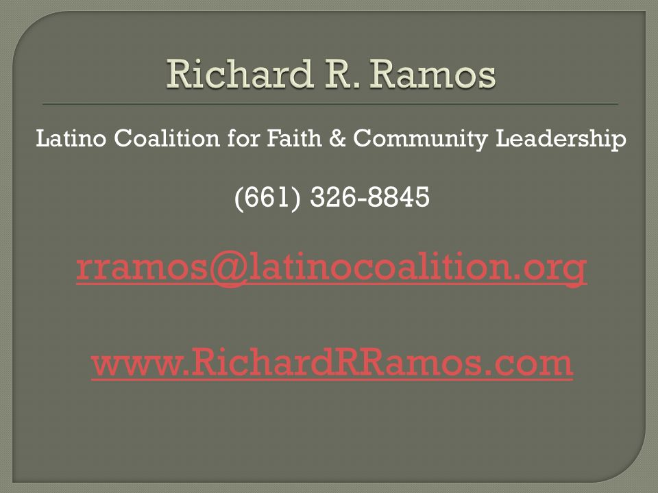 Latino Coalition for Faith & Community Leadership