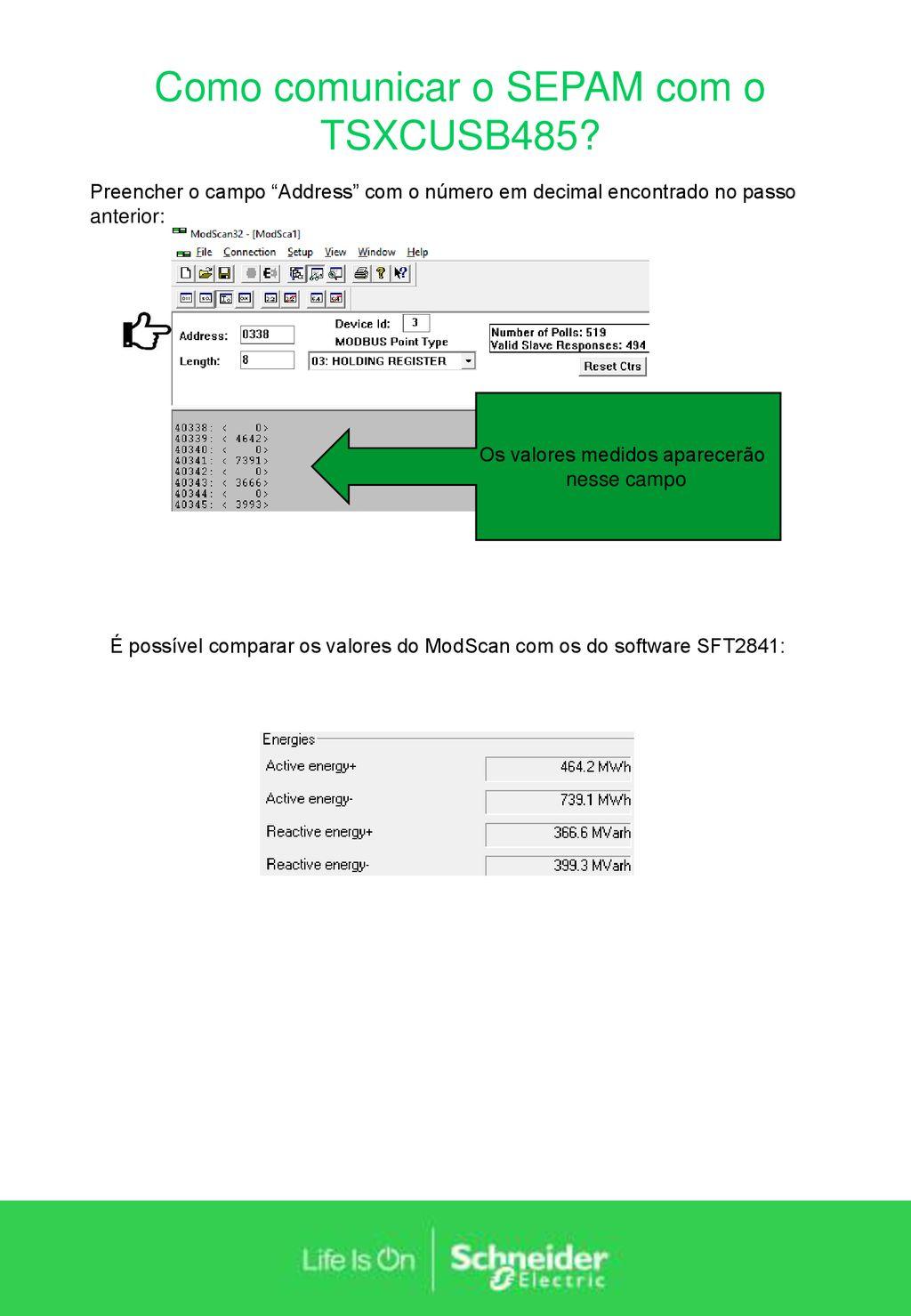 Como comunicar o SEPAM com o TSXCUSB485? - ppt carregar