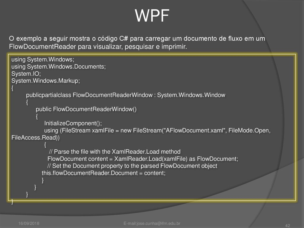 Windows Presentation Foundation - ppt carregar