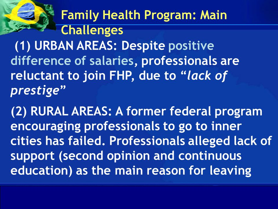 Family Health Program: Main Challenges