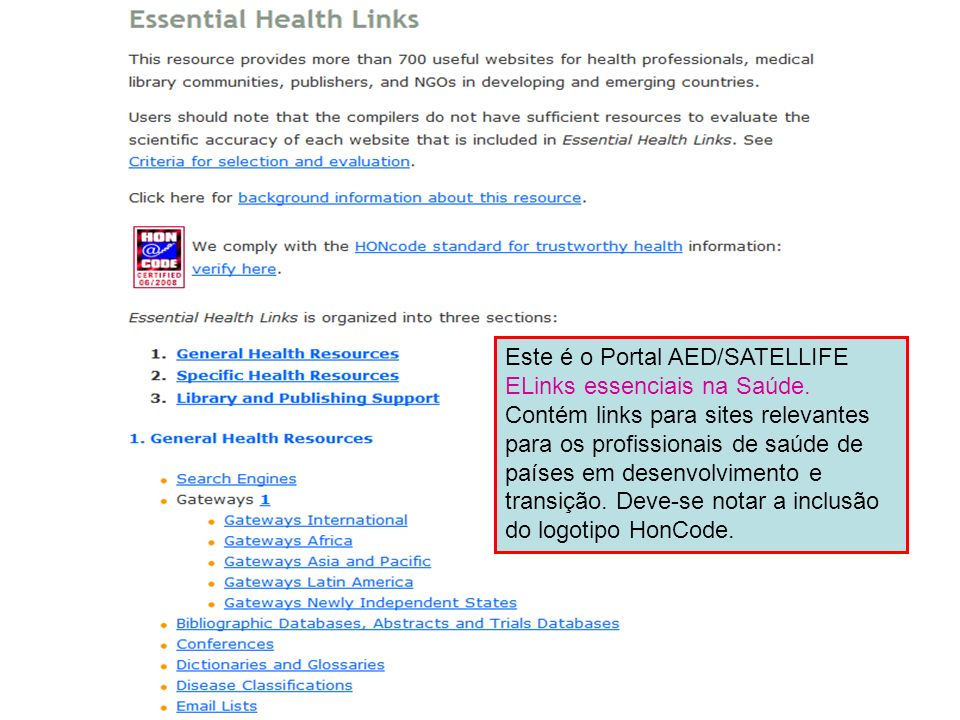 Essential Health Links