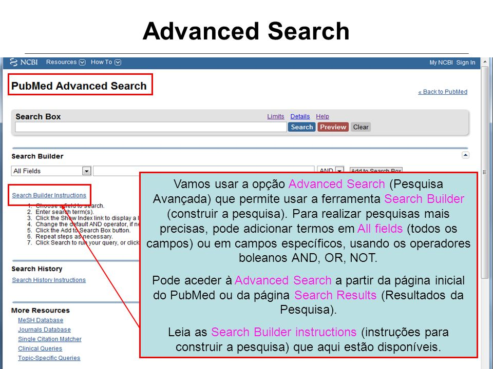 Advanced Search
