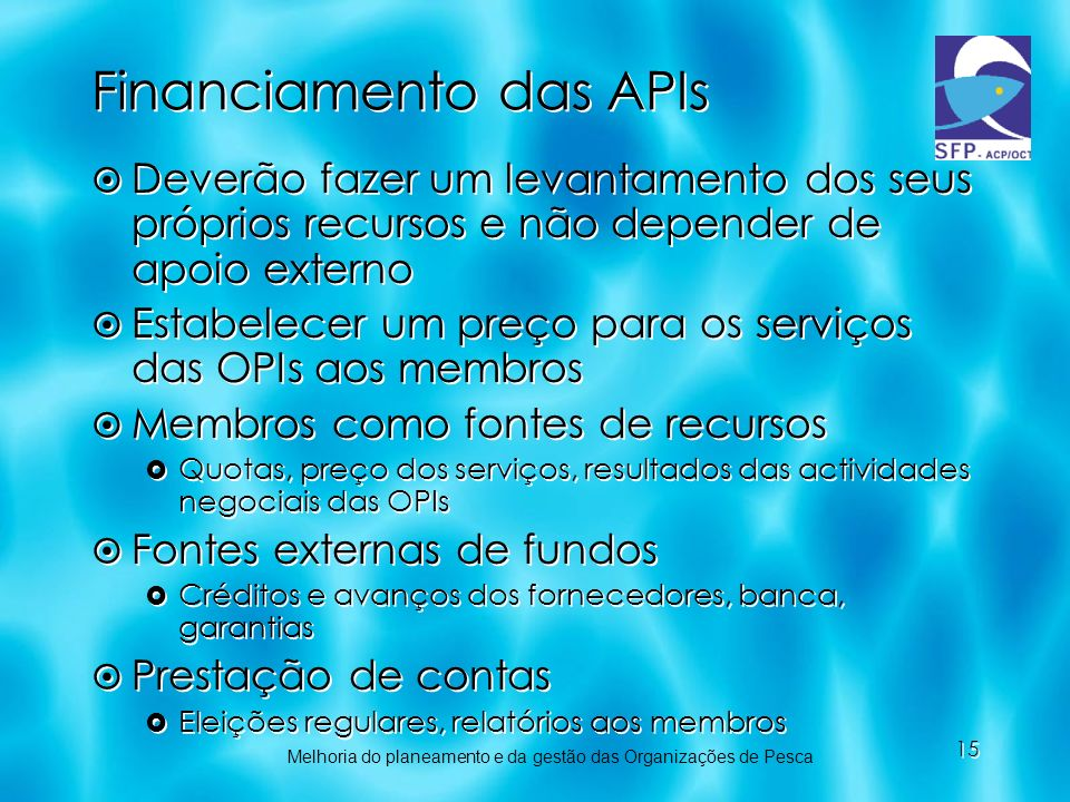 Financiamento das APIs