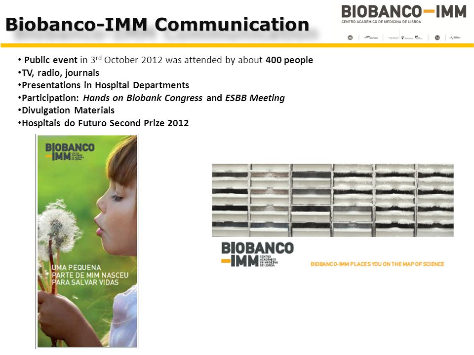 Biobanco-IMM Communication