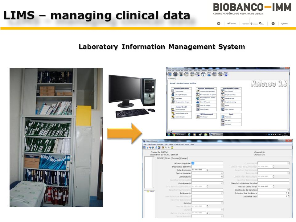 LIMS – managing clinical data