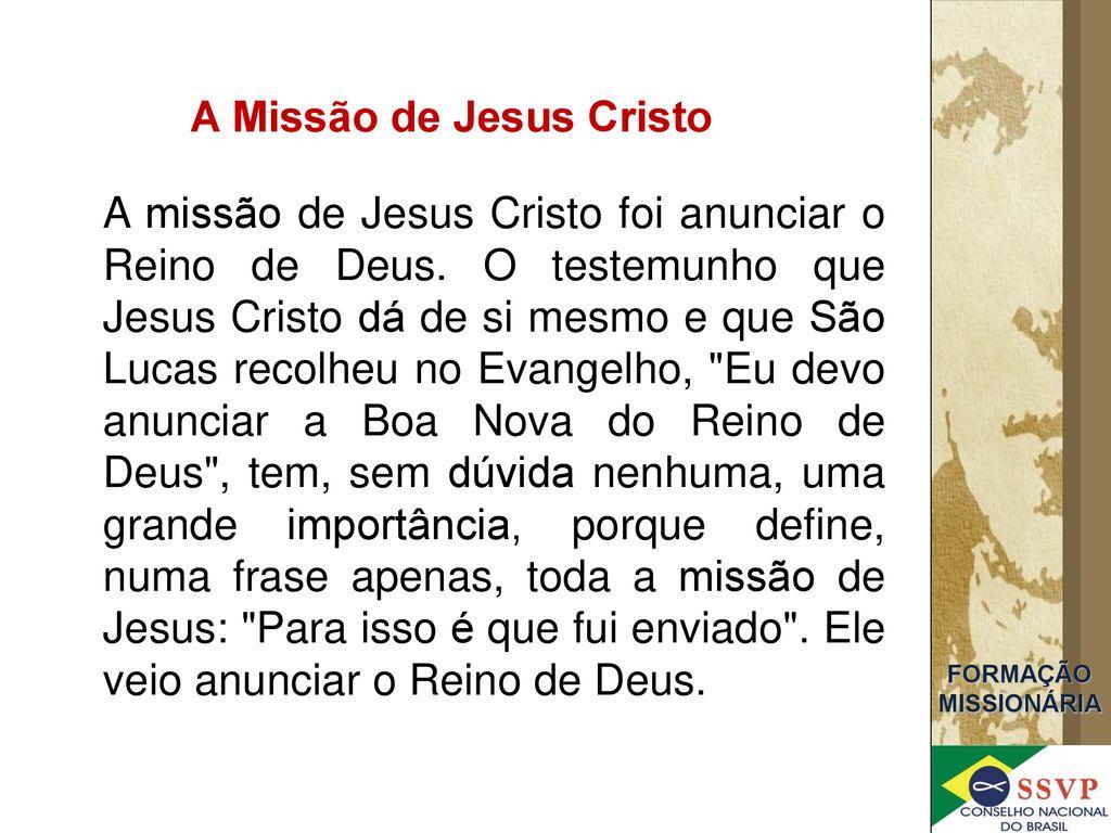 Formação Missionária Sociedade De São Vicente De Paulo Ppt Carregar