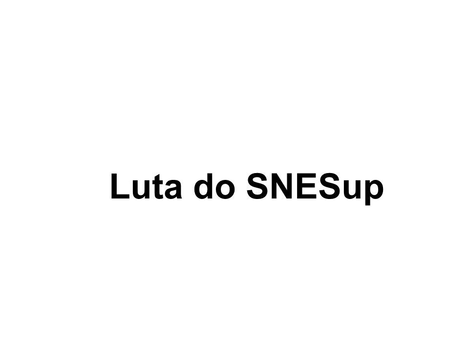 Luta do SNESup