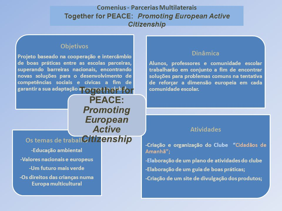 Together for PEACE: Promoting European Active Citizenship