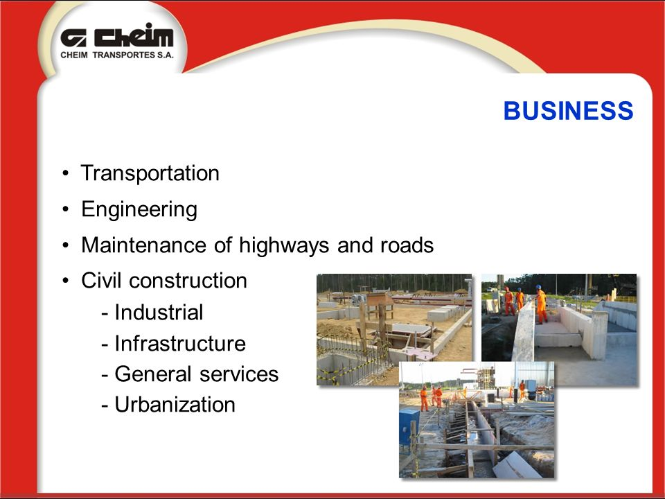 BUSINESS Transportation Engineering Maintenance of highways and roads