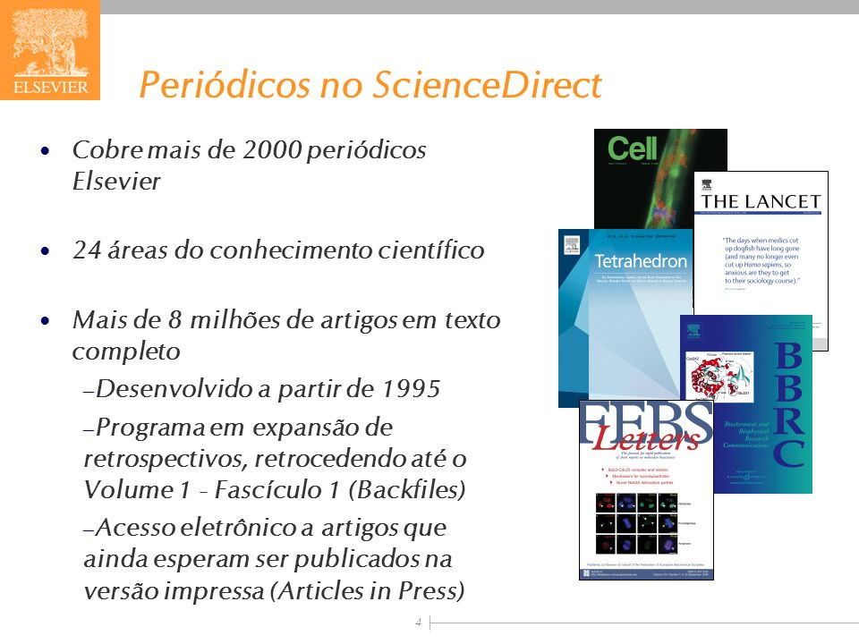Periódicos no ScienceDirect