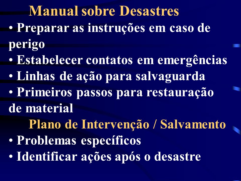 Manual sobre Desastres