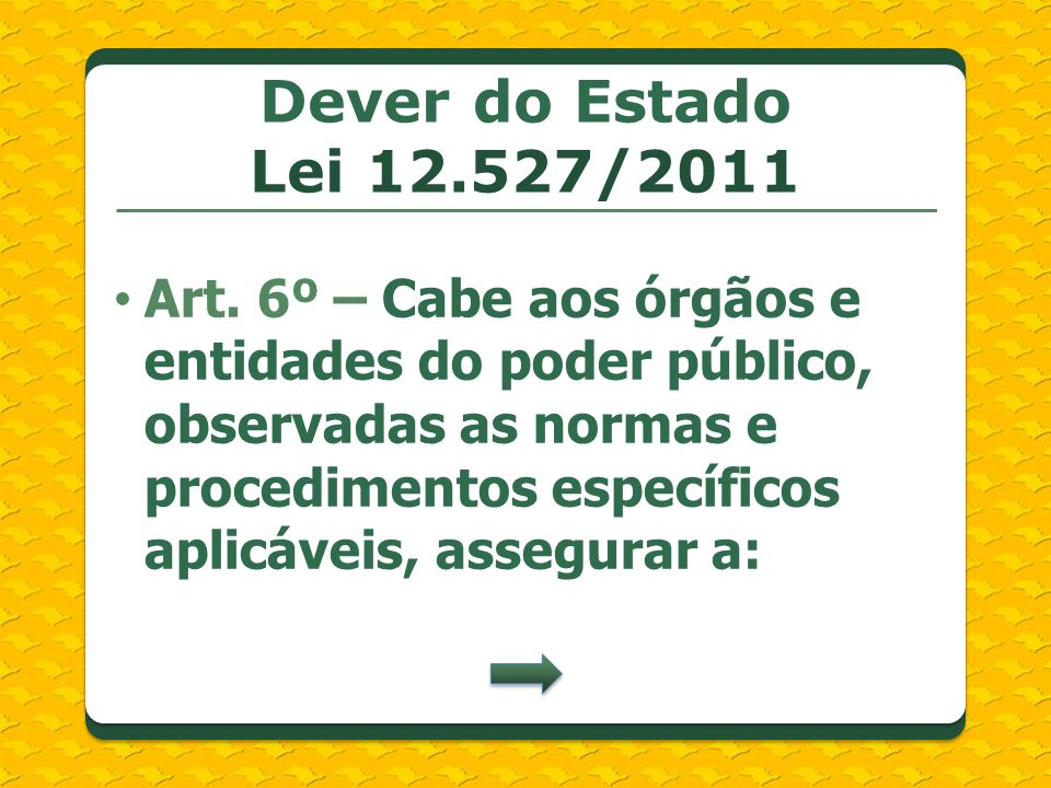 Dever do Estado Lei /2011