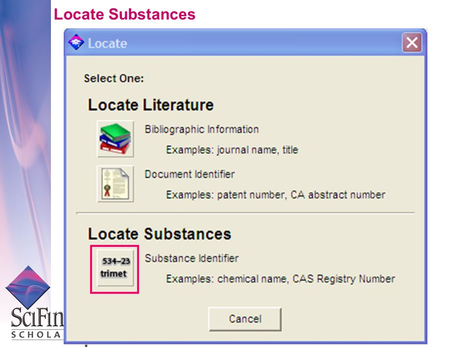 Locate Substances