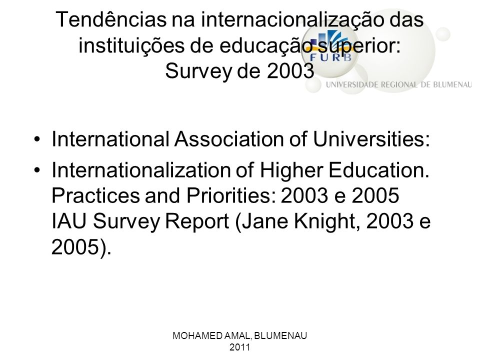 International Association of Universities: