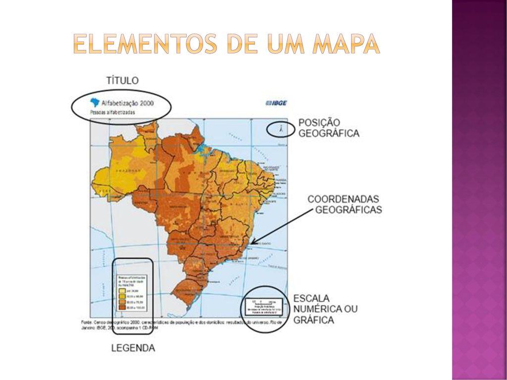Cartografia E Elementos De Um Mapa Ppt Carregar