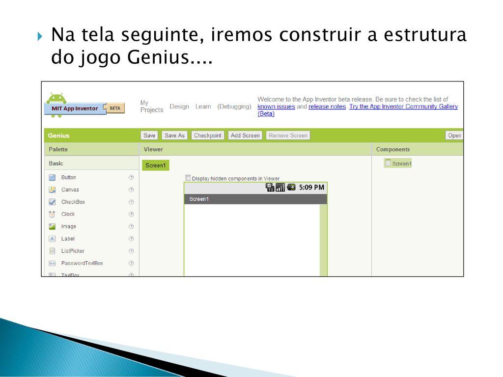 Projeto 1: Game Genius usando AppInventor® - ppt carregar